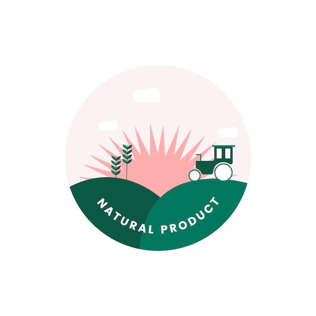 有機天然物のロゴ 無料ベクター