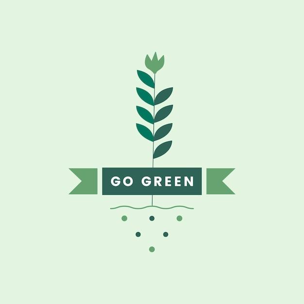 環境アイコンの緑色に移動 無料ベクター