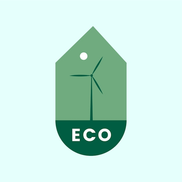 Экологичный значок альтернативной энергии Бесплатные векторы