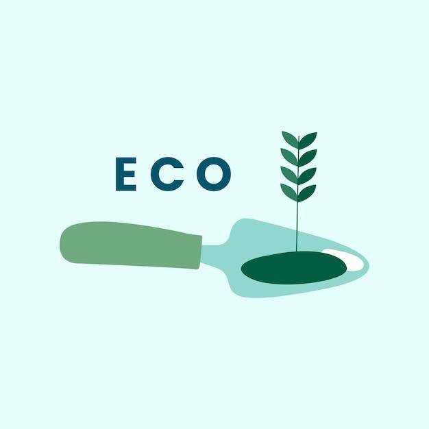 Экологичный вектор иконок сельского хозяйства Бесплатные векторы