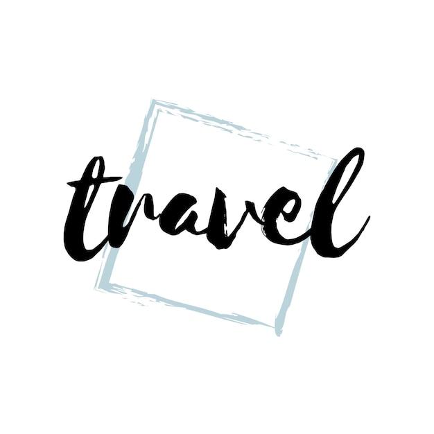 旅行のタイポグラフィまたはロゴベクトル 無料ベクター