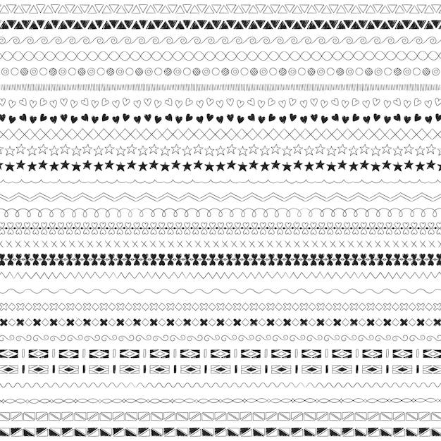 ディバイダ線のデザイン要素のベクトルコレクション 無料ベクター