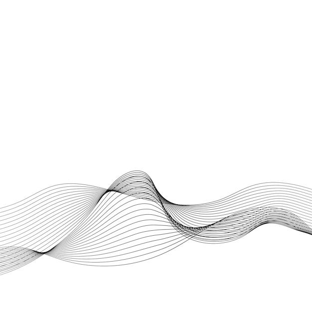 データ視覚化動的波パターンベクトル 無料ベクター