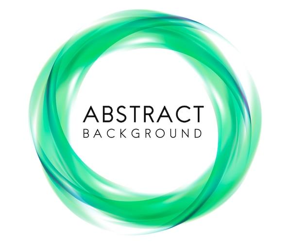 Абстрактный дизайн фона в зеленом Бесплатные векторы