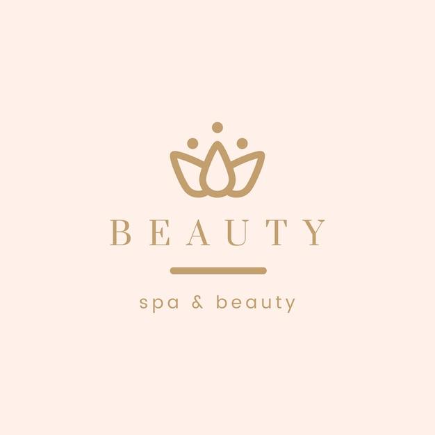 美容とスパのロゴベクトル 無料ベクター
