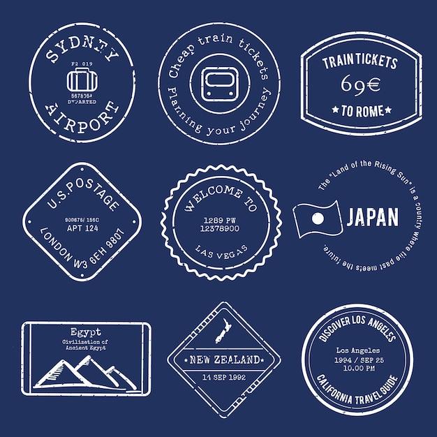 Векторный дизайн различных марок Бесплатные векторы