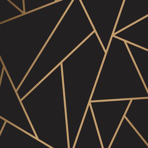 黒と金のモダンモザイク壁紙 無料ベクター