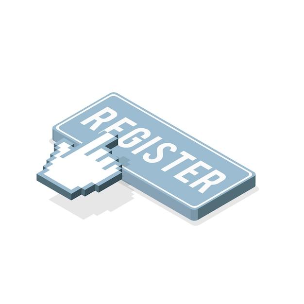 登録ボタン 無料ベクター