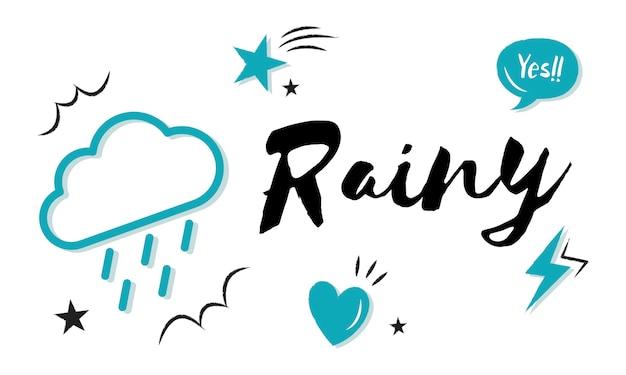 雨の多い背景 無料ベクター