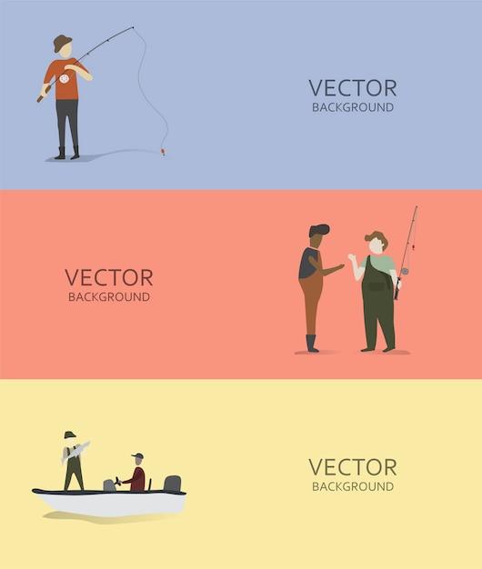 Иллюстрация хобби и деятельности человека Бесплатные векторы