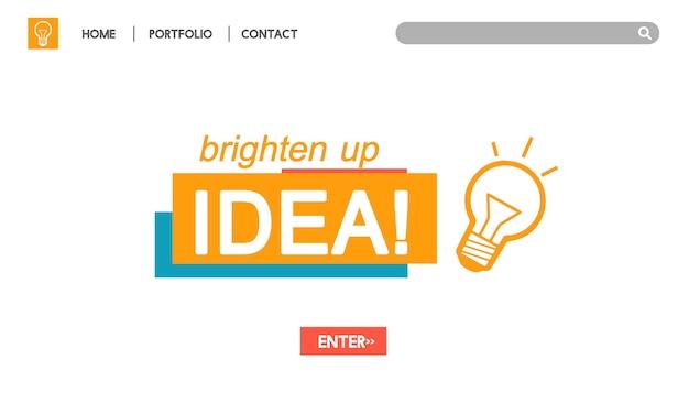 電球のアイデアのイラスト 無料ベクター