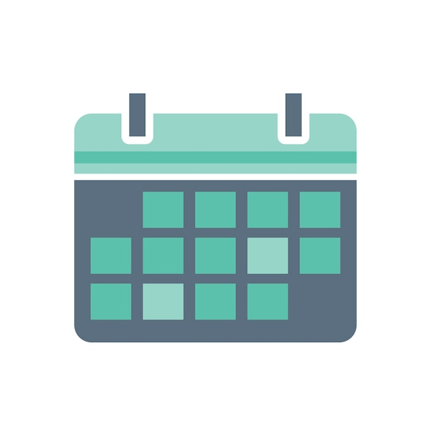 Иллюстрация значка календаря Бесплатные векторы