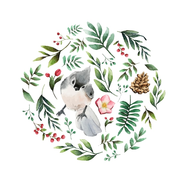 タフテッドティンマウスの鳥 無料ベクター
