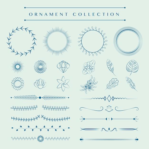 装飾品コレクションのデザインコンセプト 無料ベクター