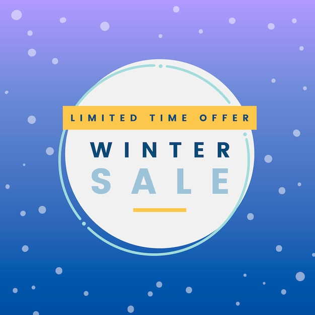 冬の販売ベクトルを提供する期間限定 無料ベクター