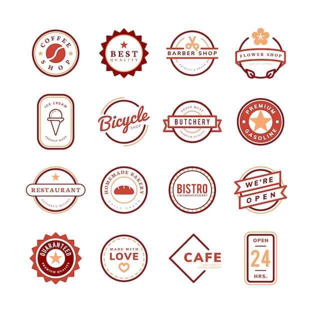 ロゴとバッジのベクトルのコレクション 無料ベクター