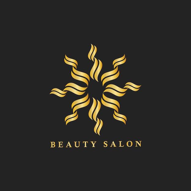 美容院のブランディングのロゴのイラスト 無料ベクター