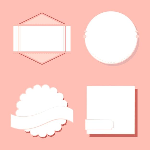Набор значков и эмблем вектор Бесплатные векторы