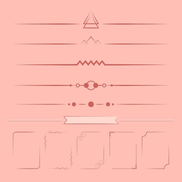 デザイン要素ベクトルのセット 無料ベクター