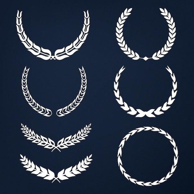 Набор векторов вектора венок Бесплатные векторы