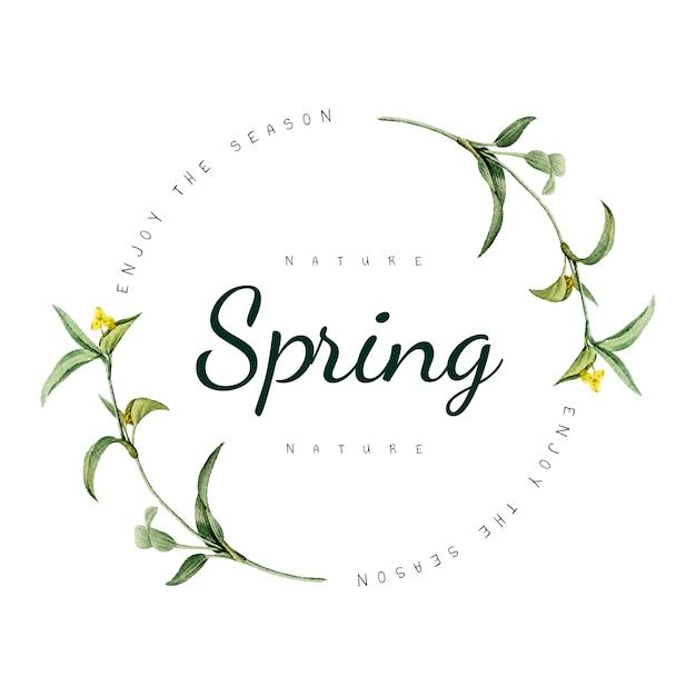 自然の春のロゴデザインベクトル 無料ベクター