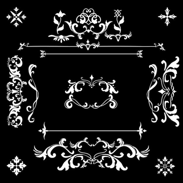 ビンテージ繁栄の装飾フレームベクトル 無料ベクター