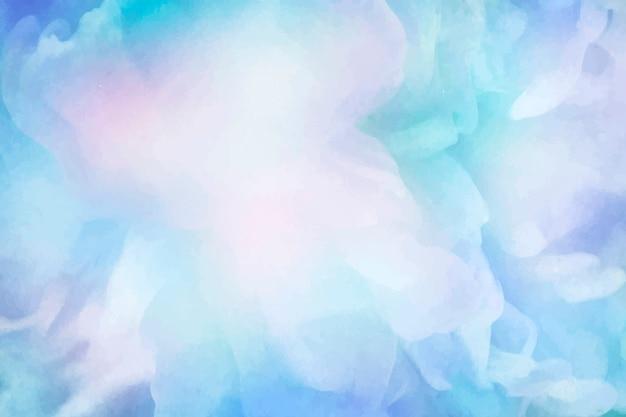 鮮やかな青い水彩画の背景 無料ベクター