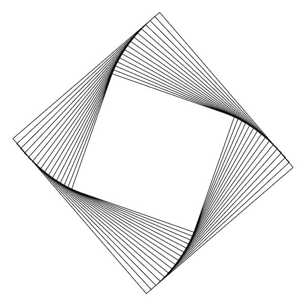 Абстрактный квадратный вектор геометрических элементов Бесплатные векторы