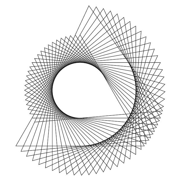Абстрактный вектор кругового геометрического элемента Бесплатные векторы