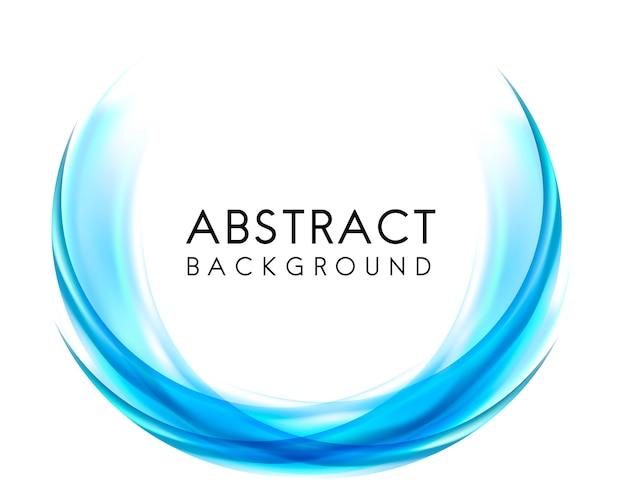 青色の抽象的な背景デザイン 無料ベクター