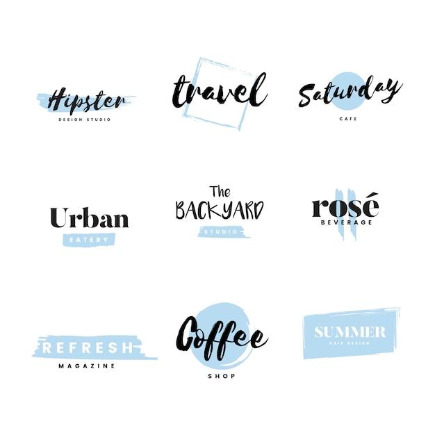 Коллекция логотипов и вектор брендинга Бесплатные векторы