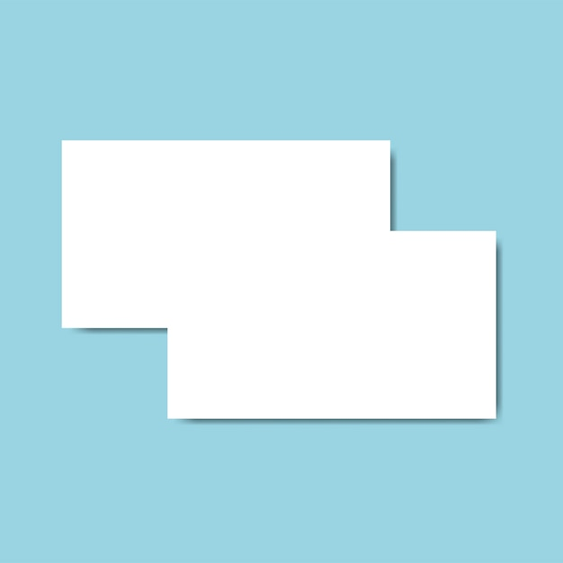 名刺デザインモックアップベクター 無料ベクター