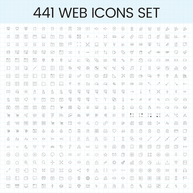 Набор векторов значков компьютера Бесплатные векторы