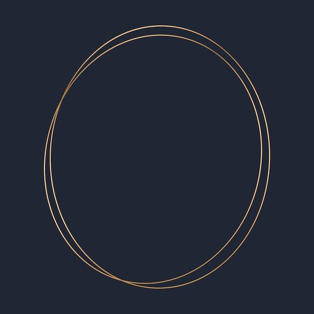 Золотой шаблон с круглой рамкой Бесплатные векторы