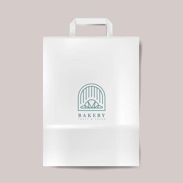 紙袋モックアップベクターを分離 無料ベクター