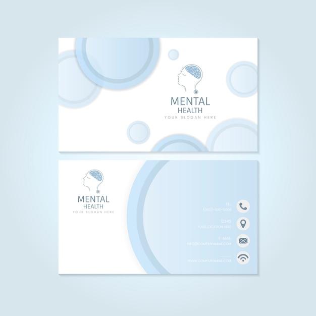 メンタルヘルス精神科医の名刺模型ベクトル 無料ベクター