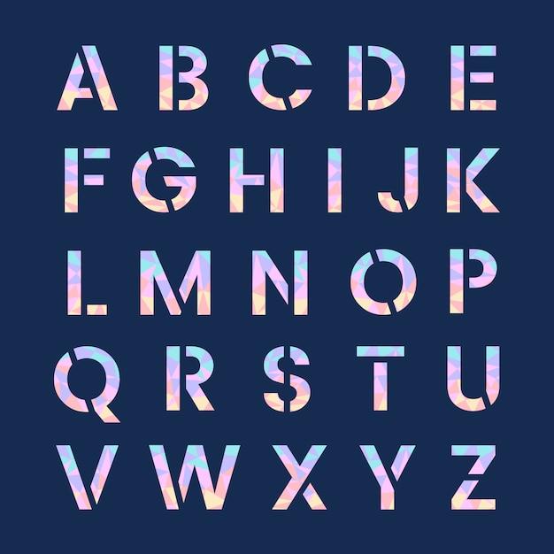 Вектор заглавных букв английского алфавита Бесплатные векторы
