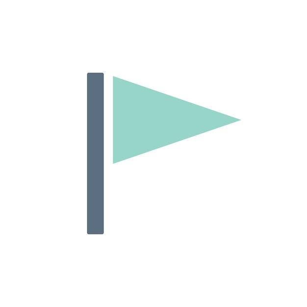 Иллюстрация значка флага Бесплатные векторы