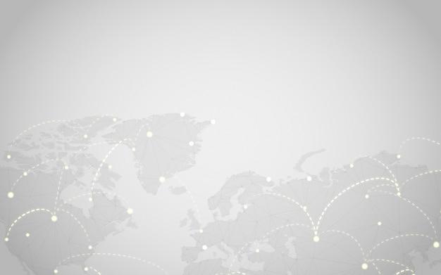 世界的な接続灰色の背景イラストベクトル 無料ベクター