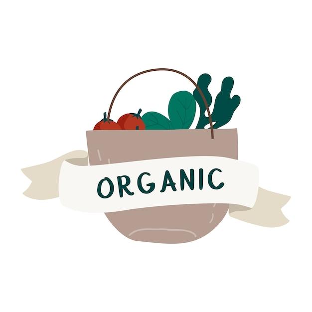 Вектор вектора натуральной свежей пищи Бесплатные векторы