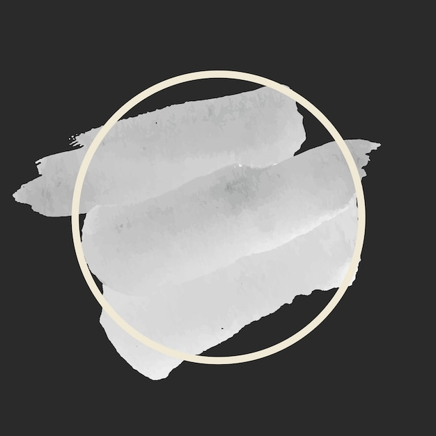 ラウンドグレーの水彩バナーベクトル 無料ベクター