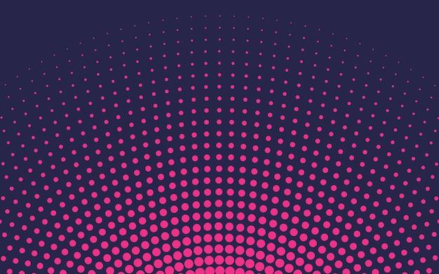 ピンクのグラデーションハーフトーンの背景ベクトル 無料ベクター