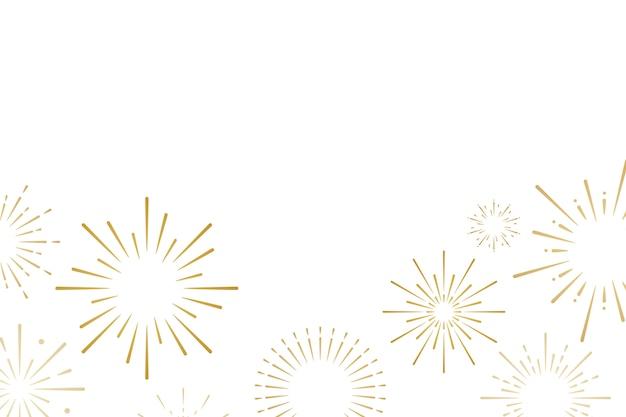 花火の爆発の背景デザインベクトル 無料ベクター