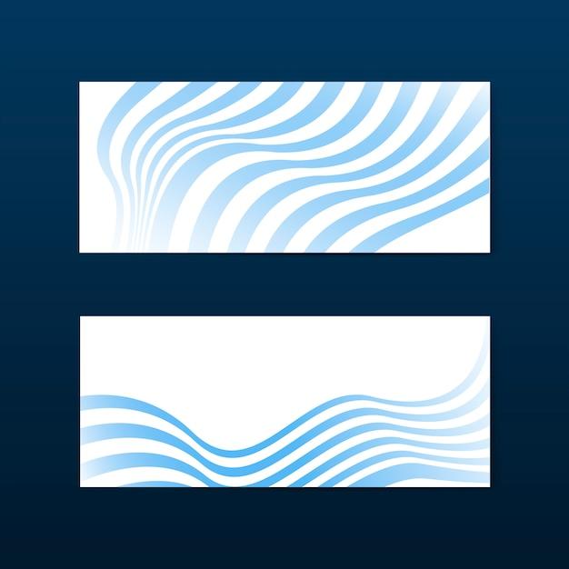 青と白のストライプ抽象バナーベクトル 無料ベクター