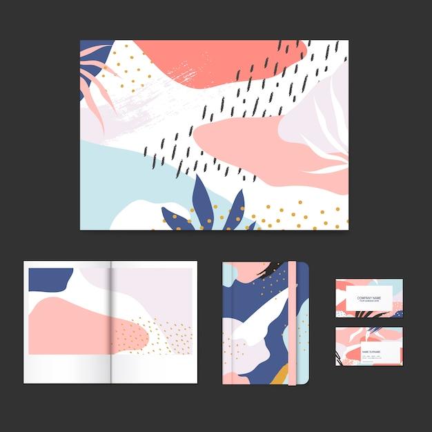 Красочный дизайн макета дизайна мемфиса Бесплатные векторы