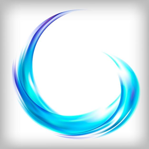 青で抽象的なロゴデザイン 無料ベクター