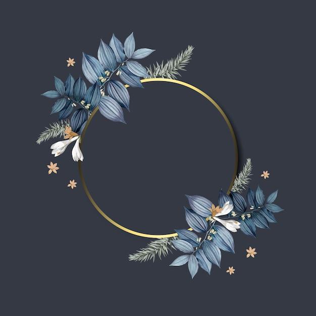 空の花のフレームデザインベクトル 無料ベクター