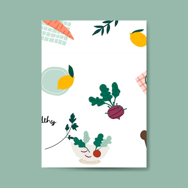 健康なビーガン食品のポスターベクトル 無料ベクター