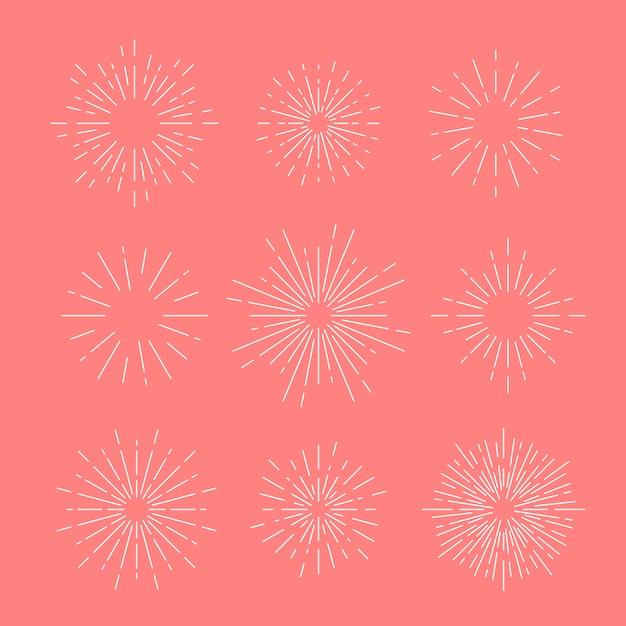 ピンクのサンバーストベクトル 無料ベクター