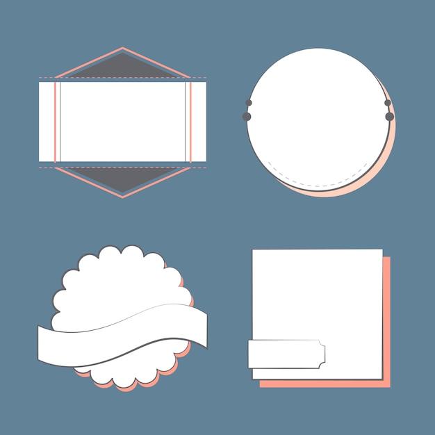 Набор значков и эмблем Бесплатные векторы